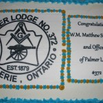 Dessert cake for Installation of W. Bro. Matthew Stickland