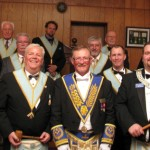 Master, Officers, Installing Master and District Deputy Grand Master - R. W. Bro. David T. ONeill
