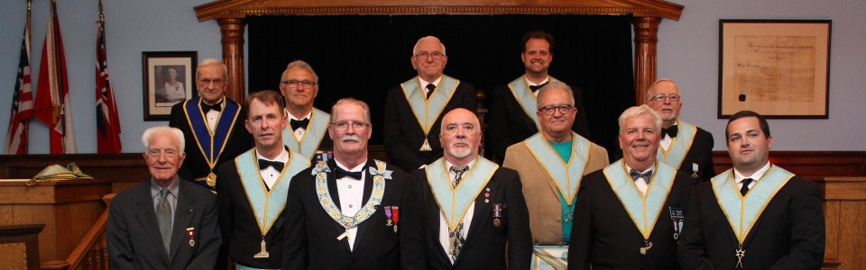 W.M. and Officers of Palmer Lodge 372 2017